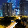 Highway and traffic in city at night — Stock Photo #12608246