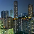 Hong Kong with crowded buildings at night — Stock Photo #12682272