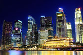 Singapore city at night — Stok fotoğraf