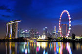Singapore city skyline at night — 图库照片