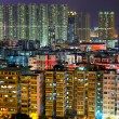 Hong Kong urban at night — Stock Photo