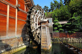 Wooden waterwheel — Stock Photo