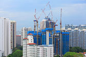 Construction site in Singapore — Stockfoto
