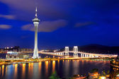 Macau city at night — Stock Photo