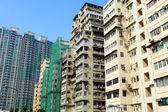 Edifício hong kong lotado — Foto Stock