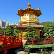 Chinese garden with pavilion - Stock Photo