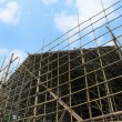 Bamboo scaffolding — Stock Photo