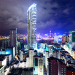 Downtown in Hong Kong view from high at night — Stock Photo #12883113