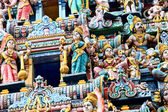 Decorations of the Hindu temple — Stock Photo