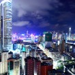 Hong Kong with crowded buildings at night — Stock Photo #13385234