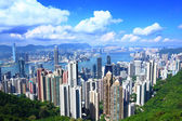 Hong Kong from peak — Stock Photo