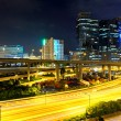 Traffic in urban at night — Stock Photo