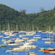 Yachts in bay — Stock Photo