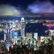 Hong Kong City Night - Stock fotografie
