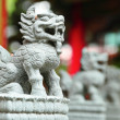 Chinese lion statue — Stock Photo #13612589