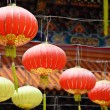 Stock Photo: Lantern in chinese temple
