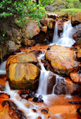 Golden waterfall, Taiwan — Stock Photo