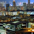 Downtown in Hong Kong at night — Stock Photo #13895343