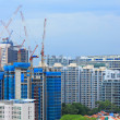 Construction site in Singapore — Stock Photo