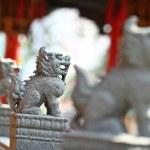 Chinese stenen leeuwen — Stockfoto