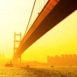 Tsing ma bridge at sunset — Stock Photo #13963424