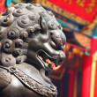 statue de lion chinois — Photo