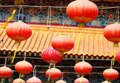 Lantern in chinese temple — Stock Photo