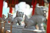 Chinese stone lions — Stock Photo