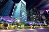 Singapore City at dusk — Stock Photo