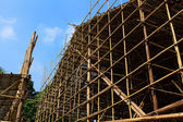 Bamboo scaffolding — Stock Photo