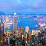Гонконг ночью — Стоковое фото #13995814