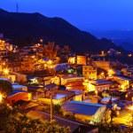 Chiu fen village at night, in Taiwan — Stock Photo #13995866