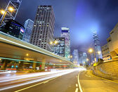 Traffic in urban at night — Foto Stock
