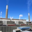 Coal fired power plant — Stock Photo