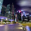 Singapore City at dusk - Foto Stock