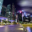 Singapore City at dusk - Photo