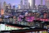 Downtown in Hong Kong night — Stock Photo