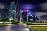 Città di singapore al crepuscolo — Foto Stock