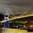 Tsing ma bridge at night — Stock Photo #18016737