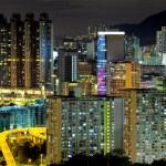 Hong kong crowded building at night — Stock Photo #18444123