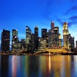 Singapore city at night - 图库照片