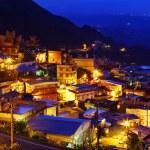 Chiu fen village at night, in Taiwan — Stock Photo
