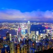 Hong Kong night view - 图库照片