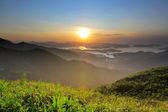 Sunrise in Hong Kong countryside — Stock Photo