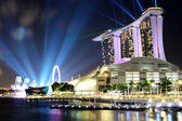 Singapore city skyline at night — Stockfoto