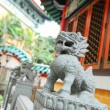 Chinese lion statue close up - Photo