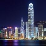 cidade de Hong kong à noite — Fotografia Stock  #19709215