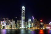 Hong Kong city at night — Foto Stock