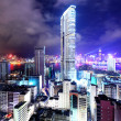 Hong Kong with crowded building at night — Stock Photo #20868793
