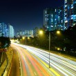 Stock Photo: Highway evening light trail